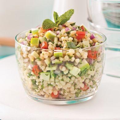Salade de couscous israélien, pomme et menthe - Recettes - Cuisine et nutrition…
