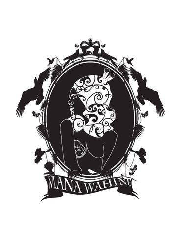 Bronwyn Waipuka Kura Gallery Maori Art Design New Zealand Mana Wahine Series Framed Digital Print Black Cameo Featured Artist