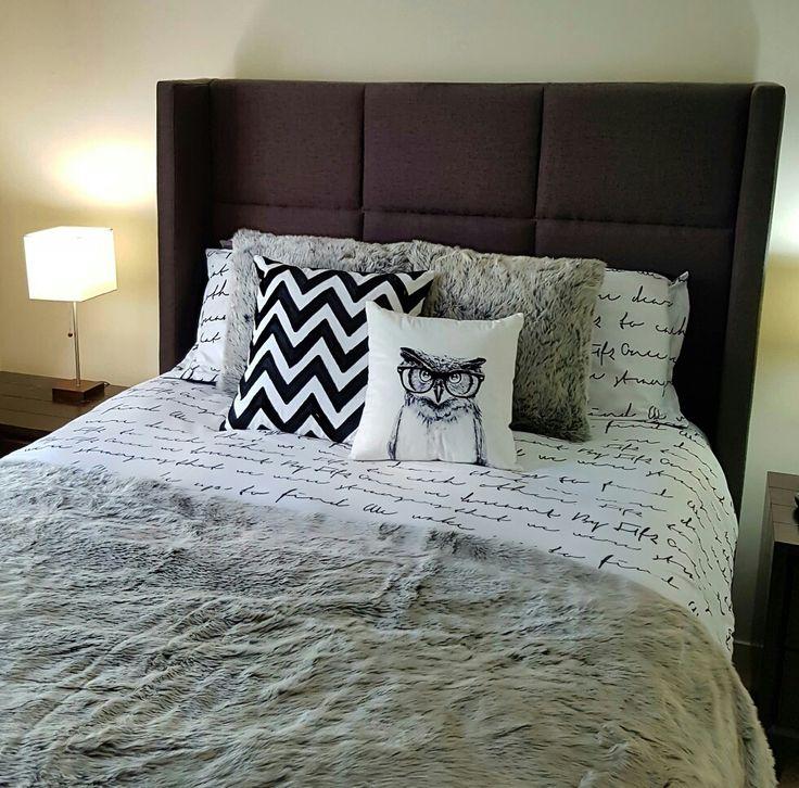 #bedroom #fur #blanket #woodland #owl #pillow #chevron #headboard #grey #scripture #cute #roomdecor #animals #furpillow #furblanket #urban #barn #urbanbarn #stripes #cozy #winter #fall