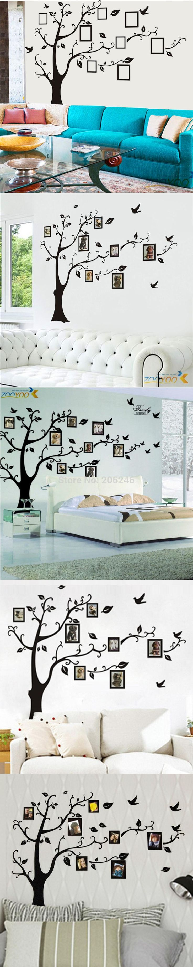 Best 25 family tree wall sticker ideas on pinterest wall 3designs smallmediumlarge photo frame family tree wall stickers arts zooyoo94ab home decorations amipublicfo Gallery