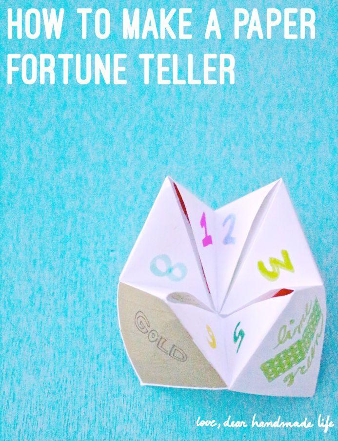 How to make a DIY paper fortune teller - Dear Handmade Life