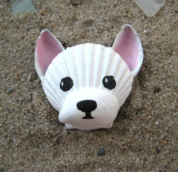 West Highland Terrier Magnet. Seashell Westie by Lorishellart