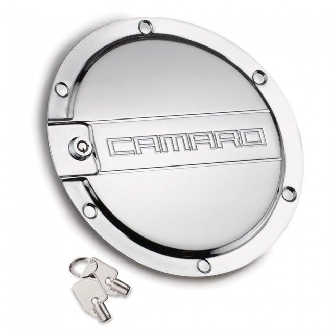 Camaro Locking Fuel Door Chrome A Practical Must Have Accessory For All 5th Generation Chevy Camaros Manufactured Fr Camaro Accessories Camaro Black Camaro
