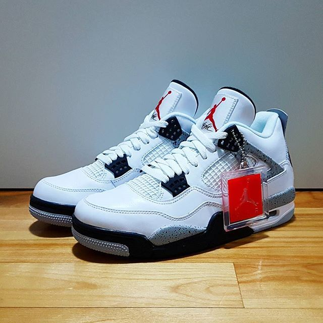 60a9da7ea08082 ... Go check out my Air Jordan 4 Retro OG White Cement on feet channel link  in ...