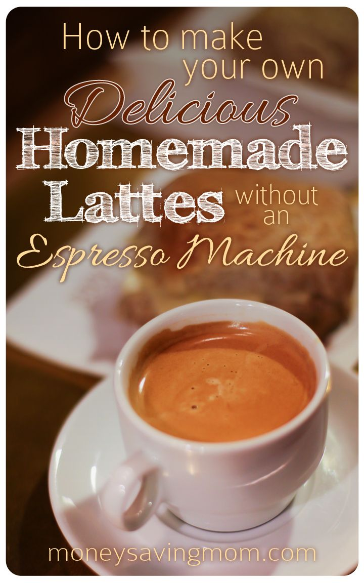 Make your own lattes at home and you could save as much as $3000 per year! Here's how to make them without an espresso machine!