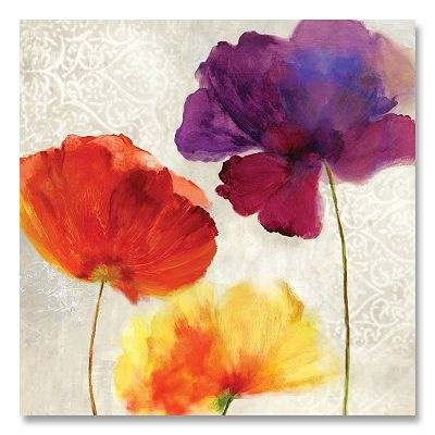 ''Lush Floral II'' Canvas Wall Art