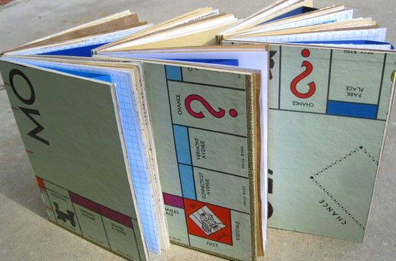 Old game boards for mini albums?Album Covers, Minis Album, Minis Scrapbook Ideas, Art Journals, Journals Notebooks, Boards Games, Games Boards, Mini Albums, Old Games
