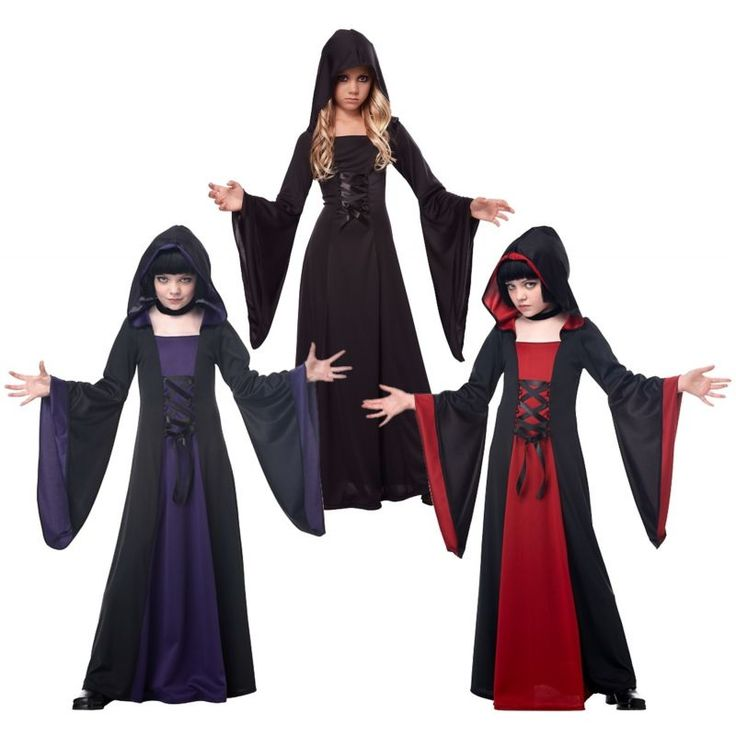 Vampire Costumes for Girls Kids Scary Halloween Fancy Dress
