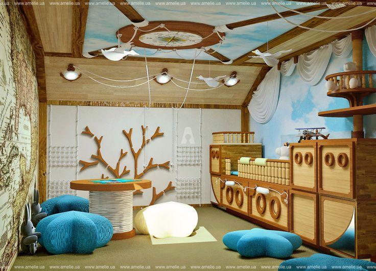 Интерьер детской комнаты для мальчика. Автор: AMELIE™ - Дизайн студия интерьера Киев. (разработка планировочных решений, эскизов (3D визуализация интерьера), чертежи, авторское сопровождение, строительная бригада.