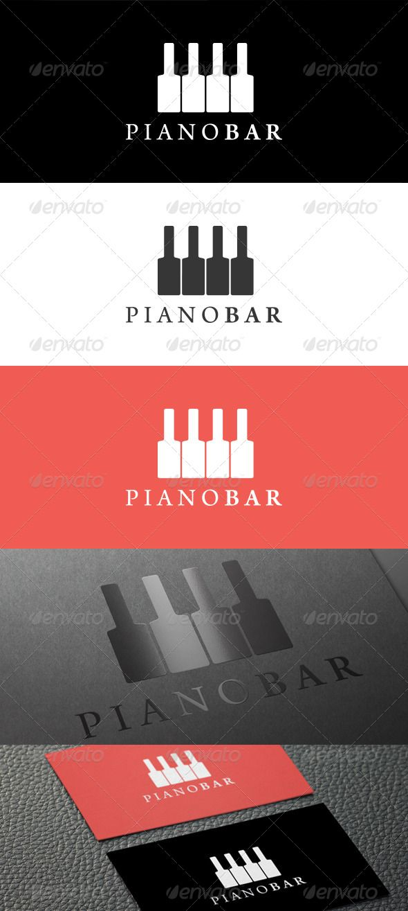 Piano Bar Logo  #GraphicRiver         An elegant and creative logo template suitable for Piano Bar company.