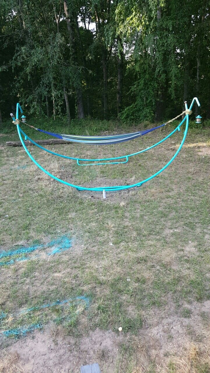 Old trampoline now a hammock