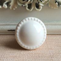 28mm Keramik Kabinett Knöpfe Weiß Taste Schrank Kleiderkammer Kommode Griffe Zieht Küche Schlafzimmer möbel Marmor Keramik knöpfe