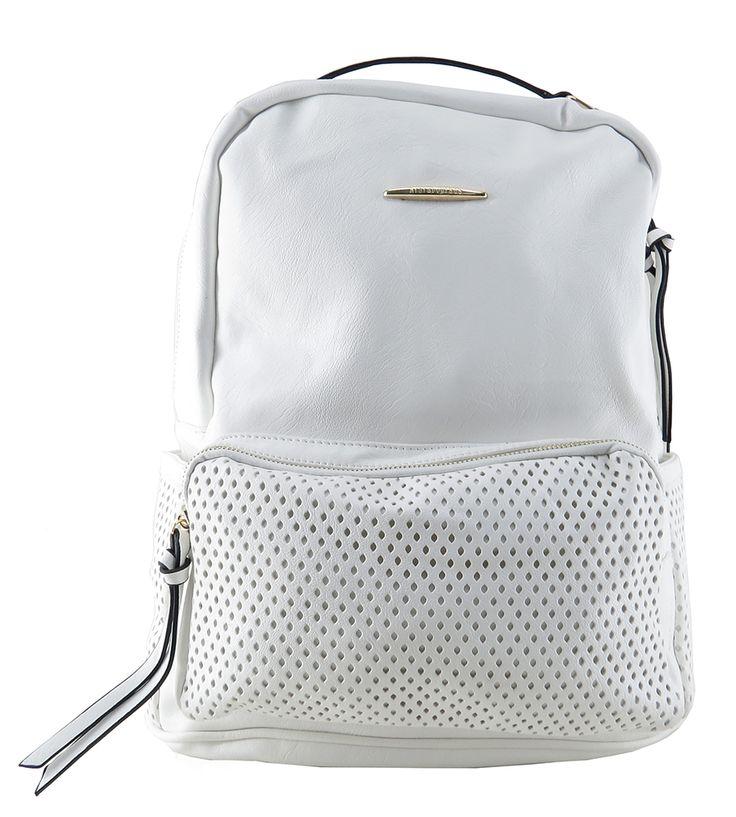 Bolsa Feminina Branca : Mochila feminina de couro ecol?gico branca para carregar