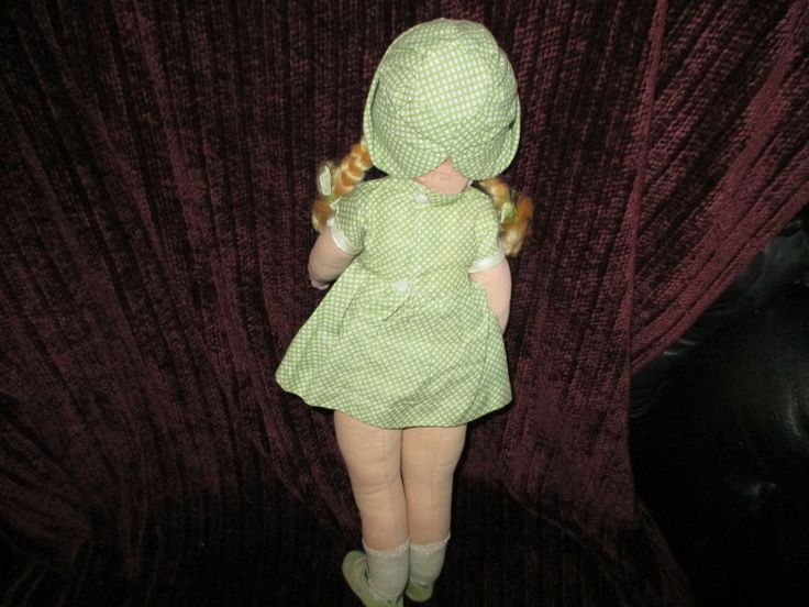 "16"" Vintage Dean 's Hygienic Doll ""Dora"" All Original Nearly Mint with Tags 