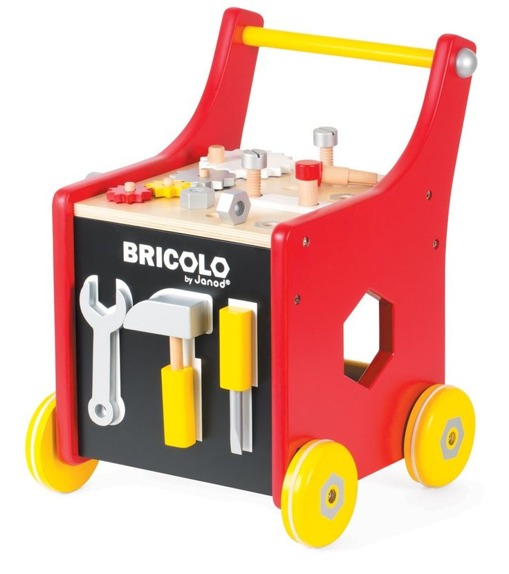 Janod - Tool Trolley DIY New Colourway