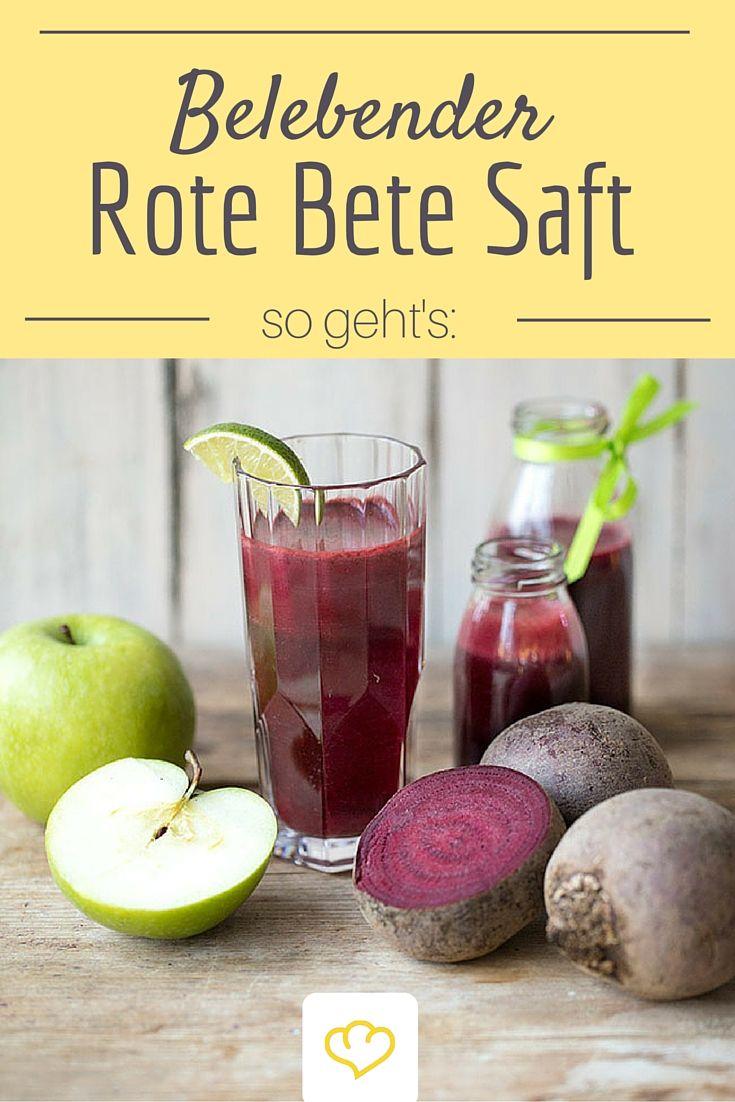 Diesen köstlichen Rote Bete Saft musst du probieren! Seine belebende Wirkung tut einfach gut!