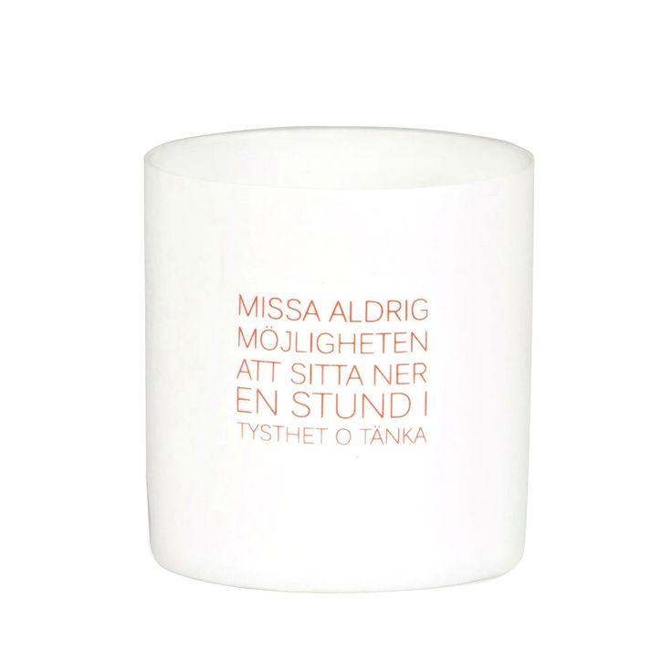 "CITAT Ljuslykta 8 cm, ""Missa Aldrig"", Ernst Kirchsteiger"