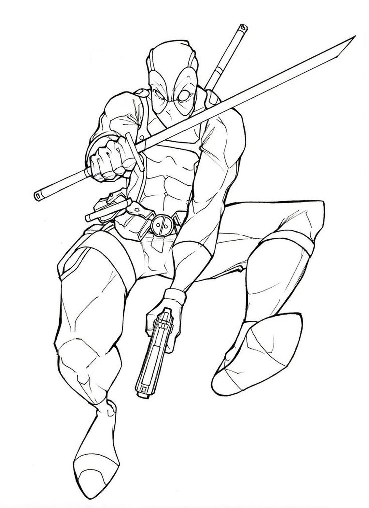 8 best DEADPOOL images on Pinterest Deadpool Coloring pages and