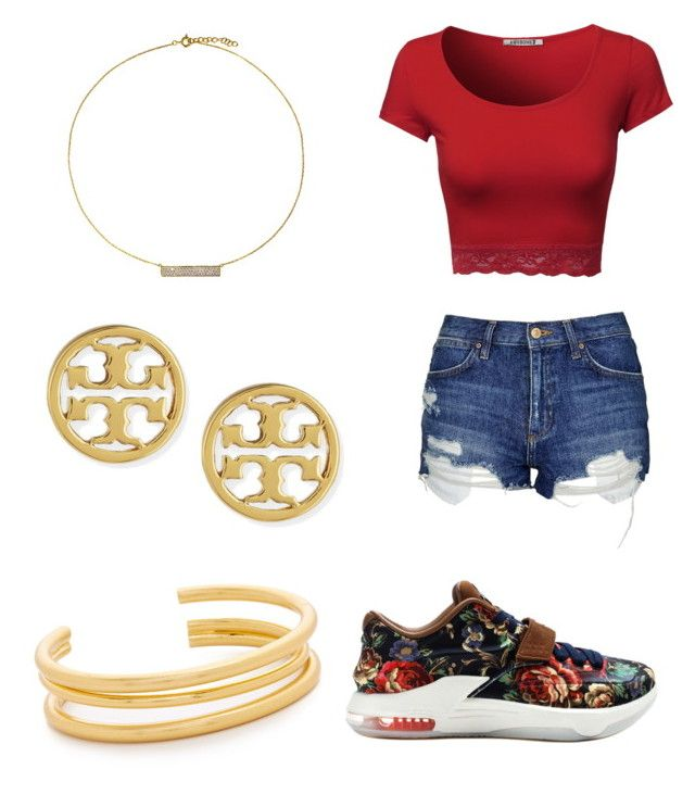 """Untitled #16"" by queenquanna1108 on Polyvore featuring Topshop, NIKE, Madewell, Hysteric Co. and Tory Burch"