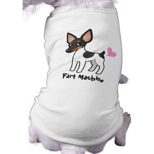 Fart Machine (Rat Terrier / Toy Fox Terrier) Doggie Tee Shirt #pet #clothing #petclothing