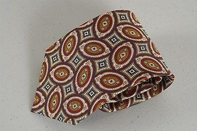 New Mens Woven Handmade 100% Silk Necktie Kenneth Gordon Brown Blue Foulard Tie   eBay