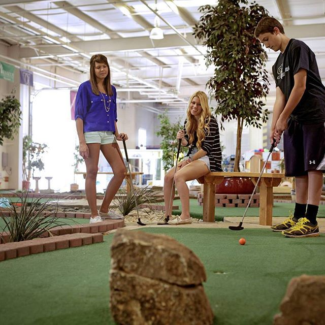 It's time to challenge dad to a game of mini golf! Make it a fun, competitive evening for the entire family. Tag your dad if you think you can beat them. Loser buys funnel cake fries at our Fusion Cafe! Winner gets bragging rights. #MiniGolf #puttputt #SportsFusion #CSF #SportsFusionMiniGolf #STL #Family