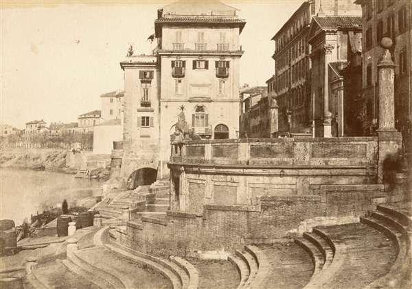 1852 circa Caneva Giacomo . Porto di Ripetta.