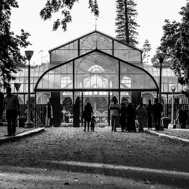 The Glass House at Lalbagh was inspired by the Crystal Palace in London. The Crystal Palace burned down in 1854 but the Glass House still stands. It is regularly used for flower exhibitions.