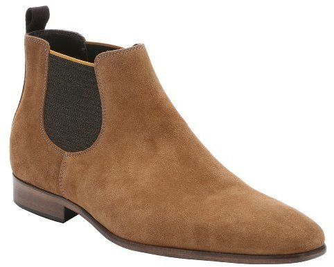 $292, a. testoni Black Leather Chelsea Boots. Sold by Bluefly. Click for more info: https://lookastic.com/men/shop_items/294873/redirect