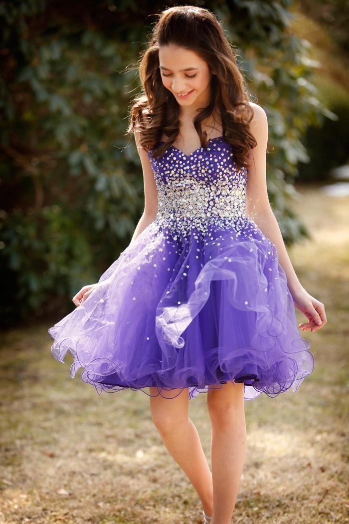 Homecoming Dresses For Teens Sparkly Rhinestones Purple Dresses Homecoming Short Sweetheart Puffy Tulle Mini Party Gown For Girl Bandage Sexy Graduation Dress Homecoming Dresses Websites From Adminonline, $83.55| Dhgate.Com