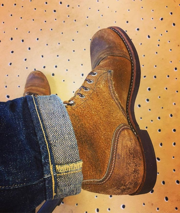 "industrialblues: ""It's Red Wing wednesday at work! And yes…you could say the carpet is quite 'cheesy'. That's what happens when you do marketing for a cheese brand! """