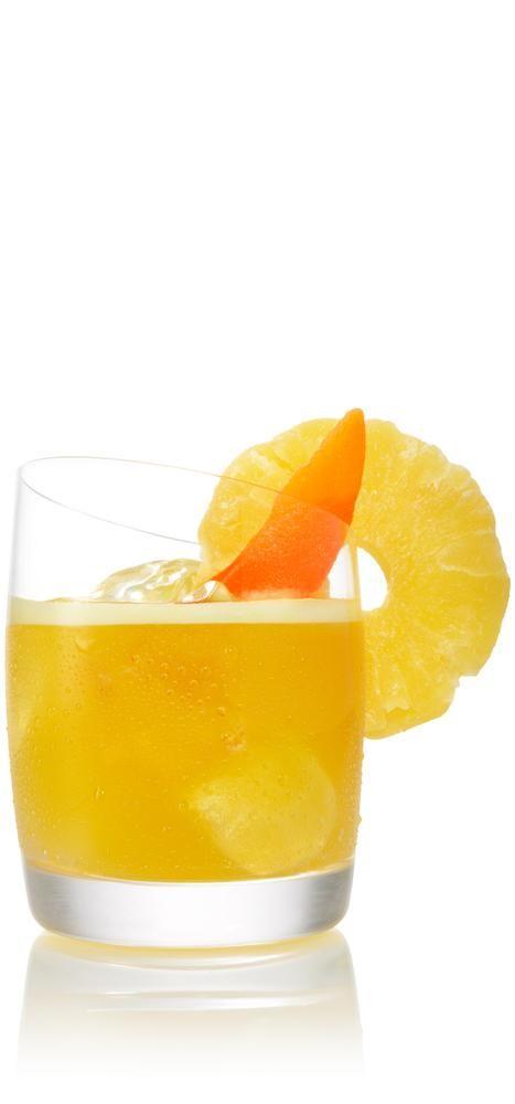 PASSIONATE GOODBYE 1½ parts SVEDKA Mango Pineapple 1 tsp. passion fruit syrup* ¾ part sour mix ½ part pineapple juice