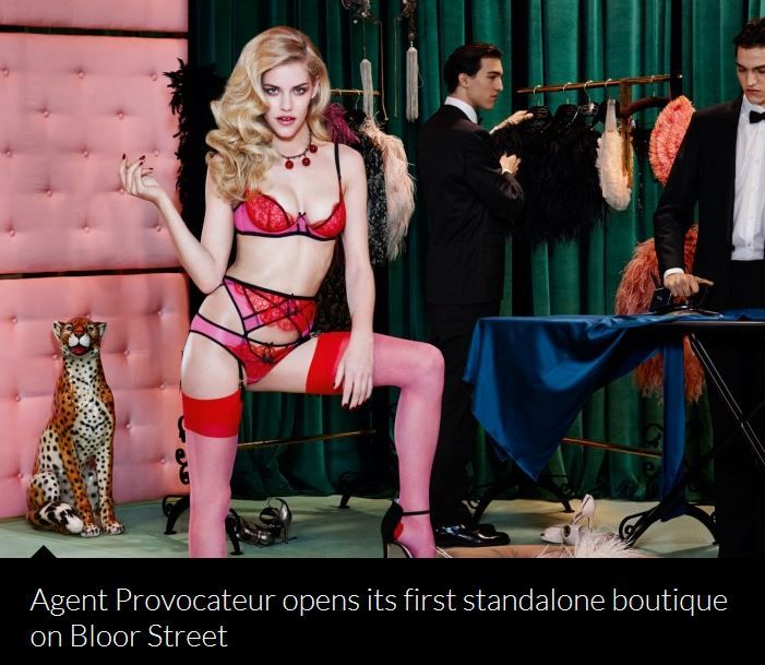 agent provocateur in Toronto