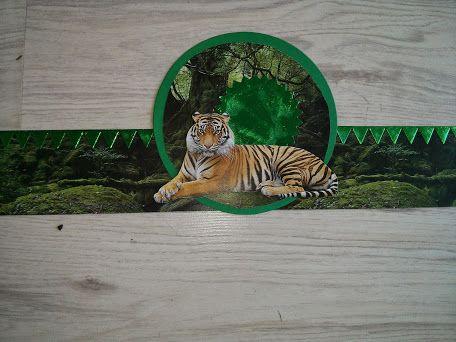 verjaardagsmuts tijger. Figuren gestanst  met big shot