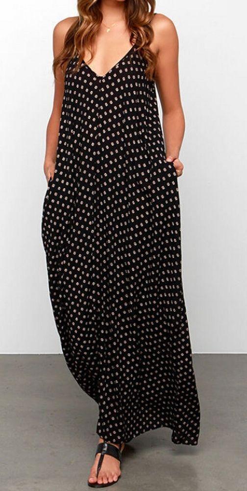 451622c8ef44c Women loose fit plus size beach party dress Bohemian Boho maxi tunic ...