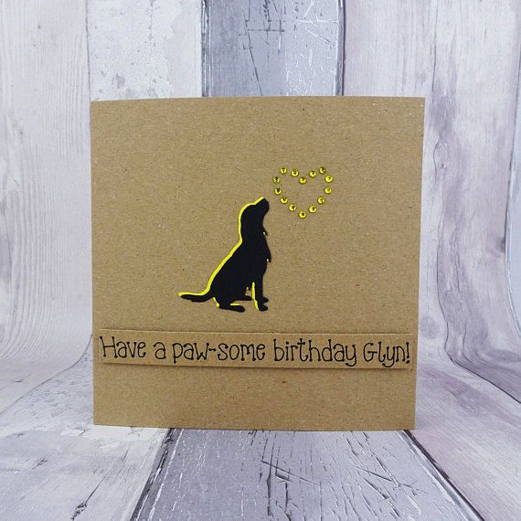 Springer Spaniel birthday card Personalised funny dog