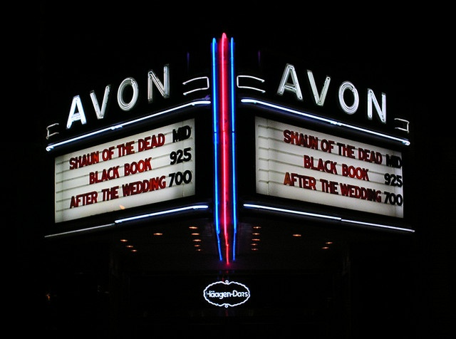 The historic Avon Cinema on Thayer St in Providence