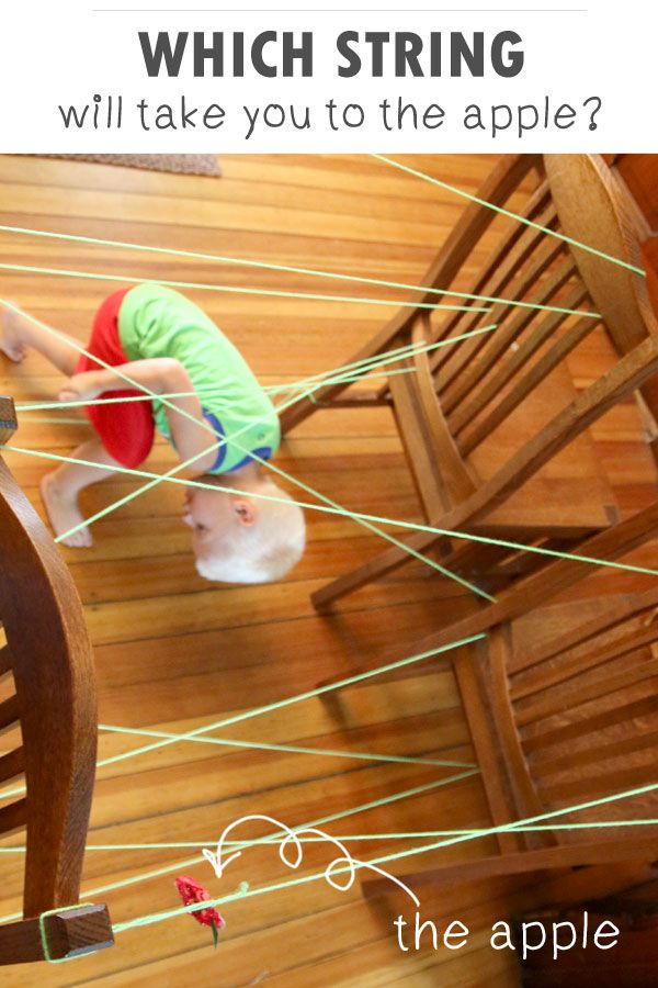 Can't get enough of those mazes you see in activity books and restaurant placemats? Bring one to life with this interactive string activity from Hands On As We Grow!