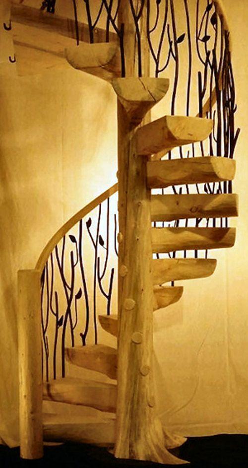Best Tree Spiral Staircase 03 Logstairs Com Flat Pinterest 640 x 480