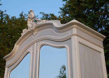 Piękna pałacowa #szafa #rocaille z lustrami, #rokoko, #Ludwik XV
