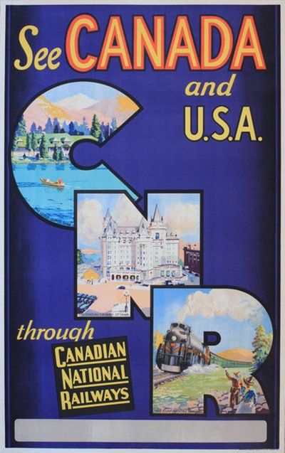 See Canada and USA through Canadian National Railways