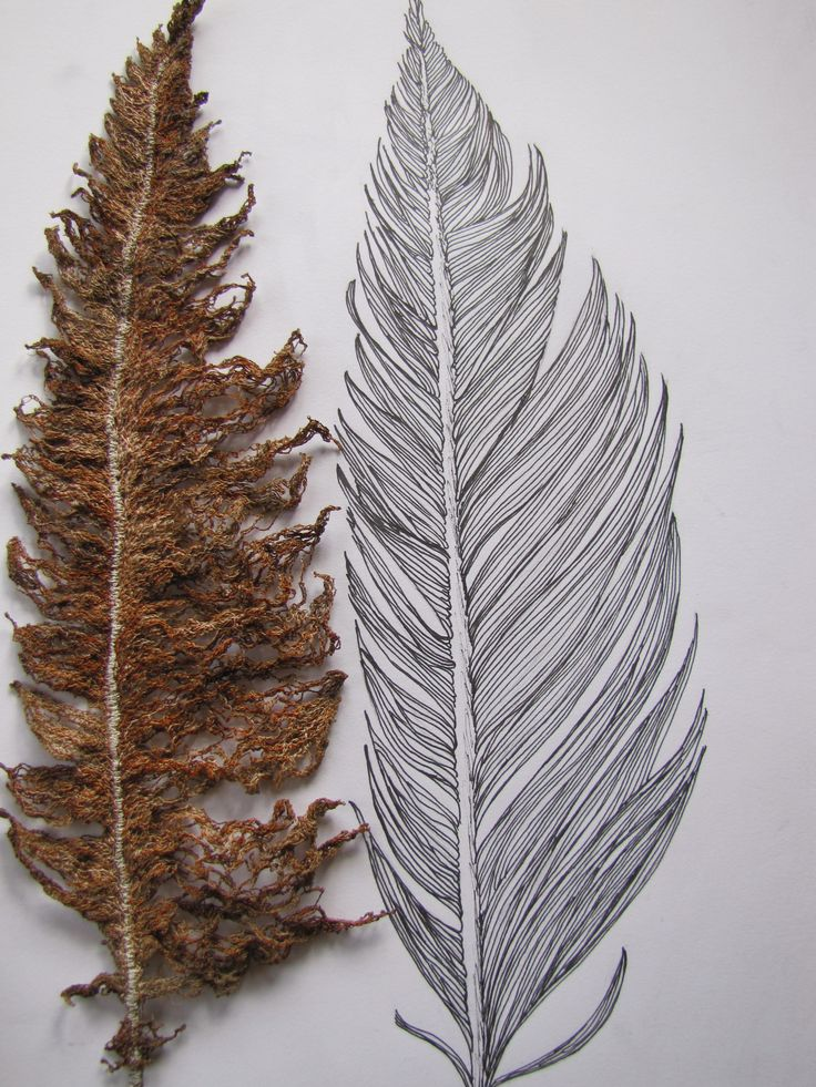 My feather drawn image & stitched out on wash-away - and now finished.
