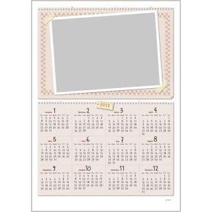 Marco de foto Calendario 0003,Tipo de marco de fotos - 2017,Calendarios,Marrón,Calendario,Marco de foto,Fotografía,Cuadros,Cuaderno