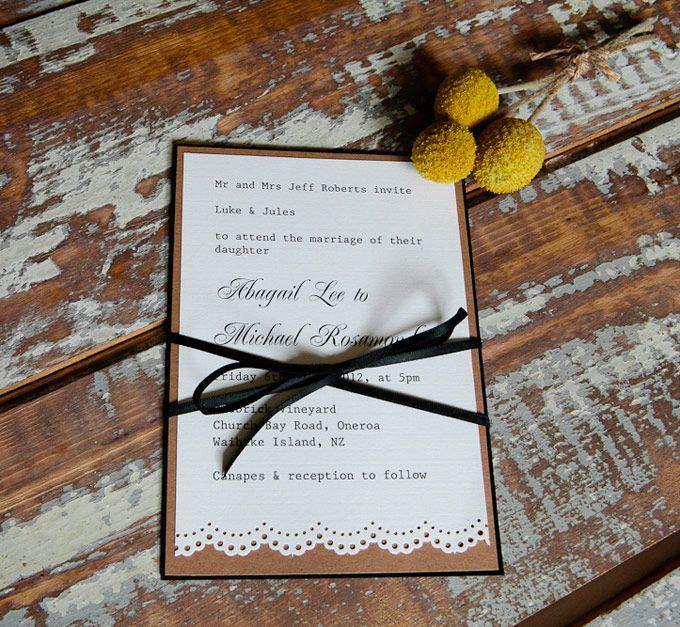 Vintage Lace wedding invitation.  The Paper Mint || thepapermint.com.au
