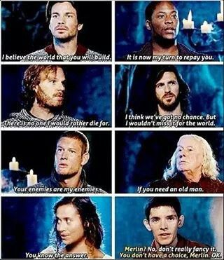 Merlin <<< can't remember what season...anyone?? I think S4...