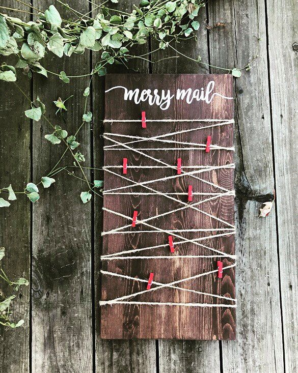 Merry Mail - Christmas Card Display - Wooden Sign by Shop217Designs on Etsy https://www.etsy.com/listing/480064828/merry-mail-christmas-card-display-wooden