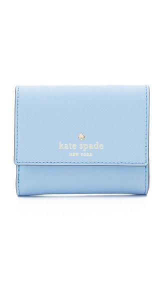 KATE SPADE NEW YORK Tavy Small Wallet. #katespadenewyork #bags #leather #wallet #accessory