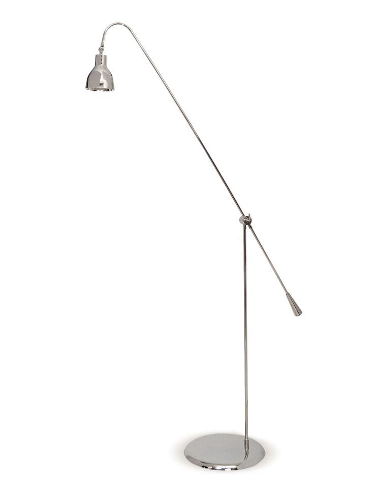 Long Arm Nickel Floor Lamp