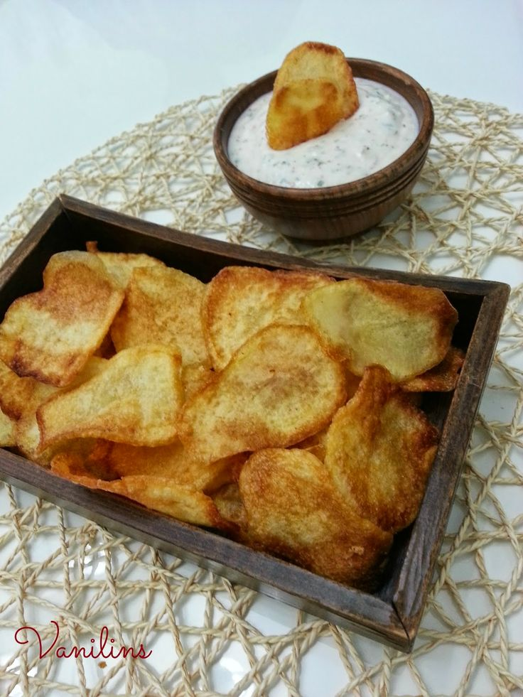 Vanilins: Ev yapımı cips ve dip sos