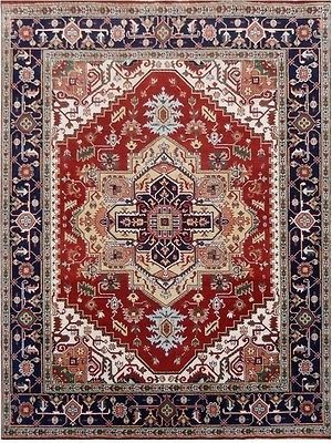 Great Deal Serapi Hand Knotted 9' X 12' Artistic Knotting Cheap Clearance Rugs